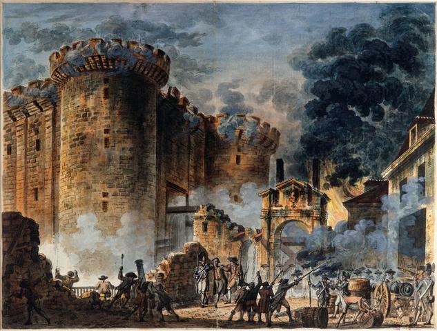 Inicia la Revolución/ Toma de La Bastilla