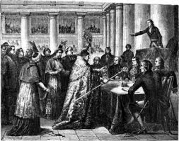 Nacionalización de los bienes de la iglesia.