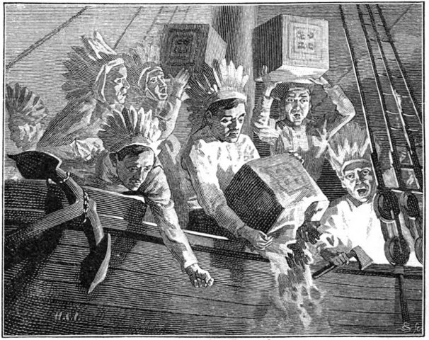 Colonists Fight Tea Act
