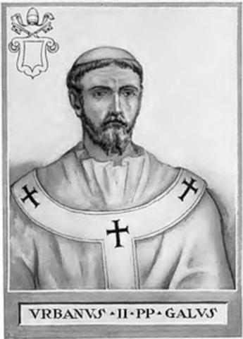 Byzans bad Vesteuropa om hjælp mod de islamske arabere og tyrkere som truede kejserriget fra øst og syd