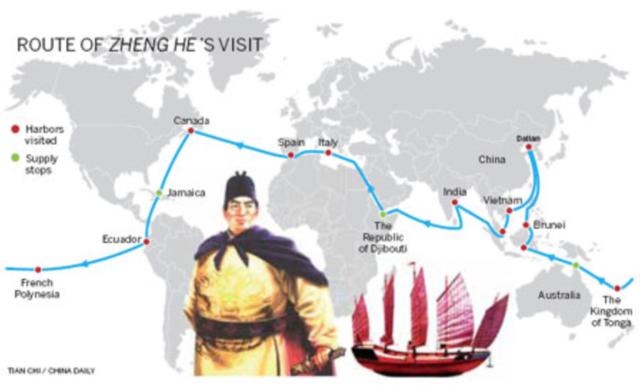 Zheng Hes' første ekspedition begynder