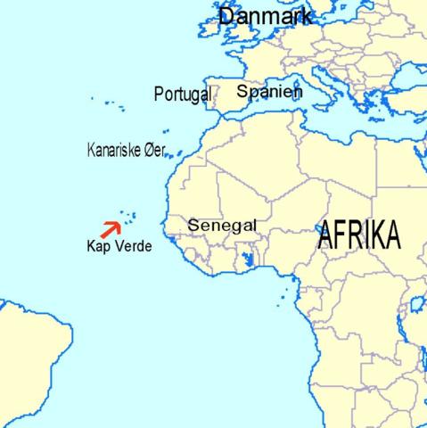 Portugiserne nåede til Cap Verde i søgen efter en vej til Asien