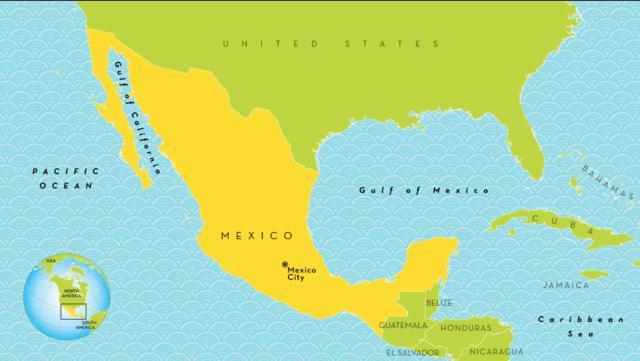 Spanierne kom til Mexico i søgen efter guld