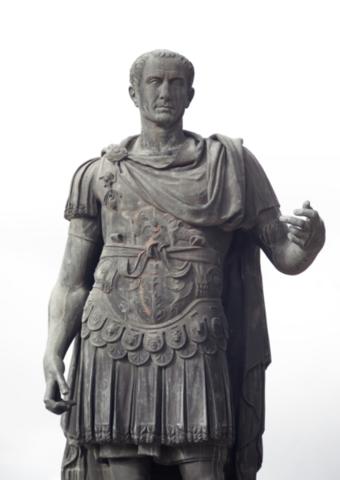 Cæsar forsøgte at standse kampene ved at gøre sig selv til diktator - mislykkedes og han blev dræbt