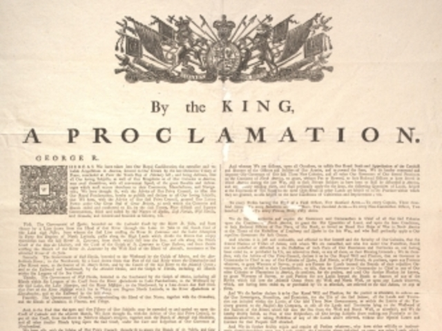 British Proclamation Line