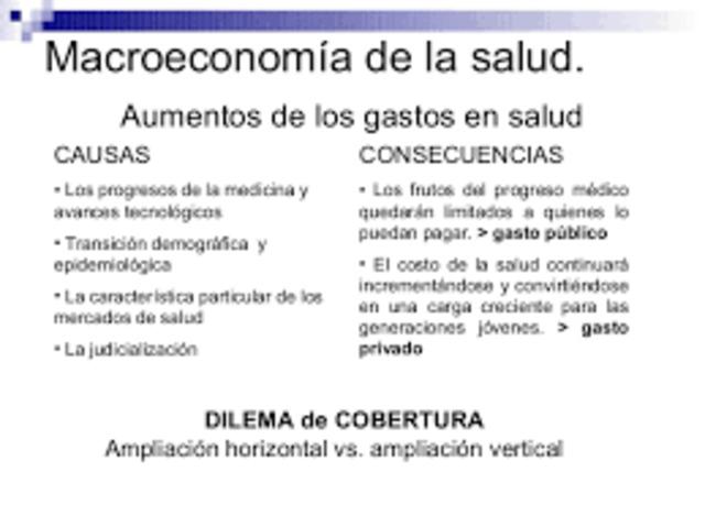 Seminario de macroeconomía y salud