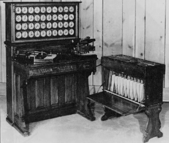 Máquina Tabuladora De  Herman Hollerith