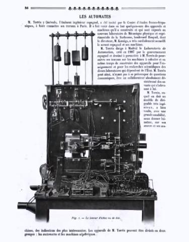 Torres Quevedo hizo trabajos de maquinas