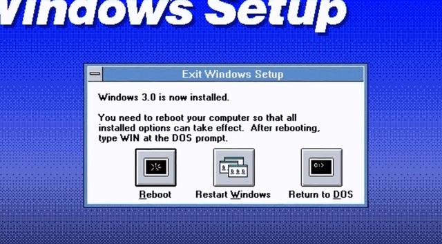 Introducción de Windows 3.0