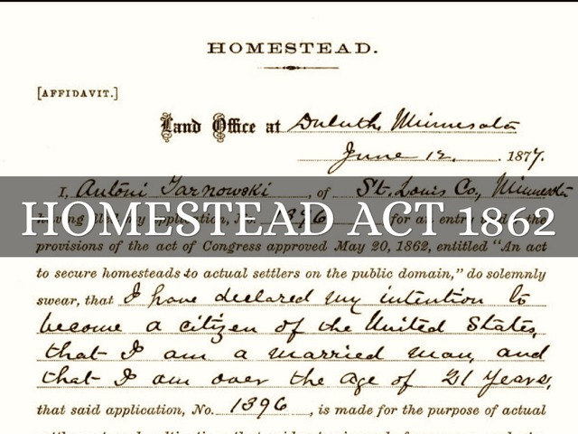 Homesteader Act of 1862
