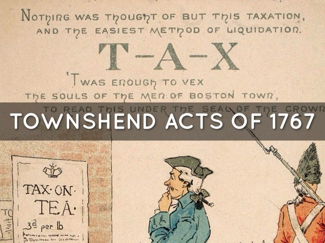 Townshend Act -Intolerable Act-
