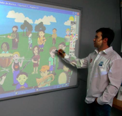 1999 - Lousa interativa: aula multimídia