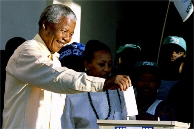 A.N.C. Wins Majority in Election; Nelson Mandela Becomes President