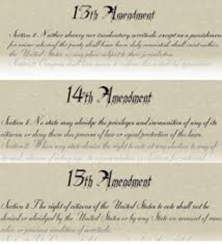 Civil War Amendments (13, 14, 15)