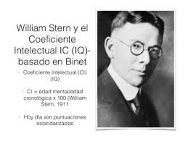 Stern agrega el termino coeficiente intelectual (CI)