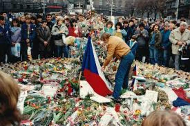 Revolución de Terciopelo. Primavera de Praga