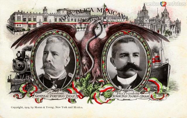 Porfirio Díaz y Ramon Corral