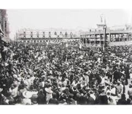 Se conmemoran los festejos del primer centenario de la independencia de México
