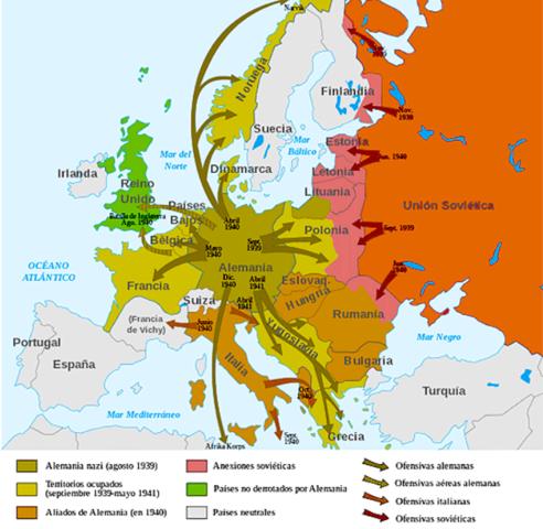 Finalización de la Segunda Guerra Mundial