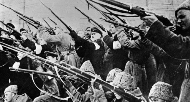 Represión contra las huelgas en Petrogrado