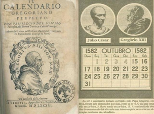 Inicio del uso del calendario gregoriano