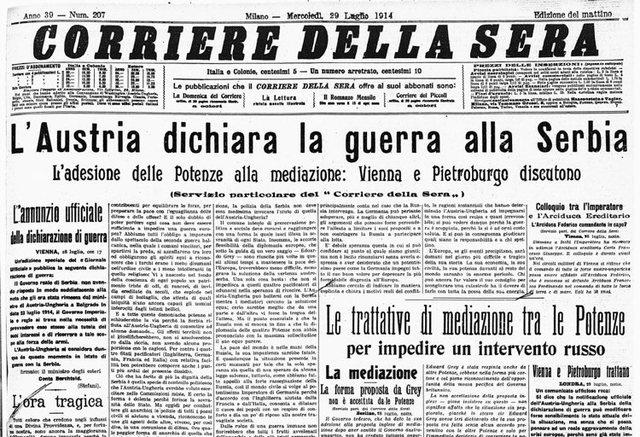 Austriacos declaran la guerra