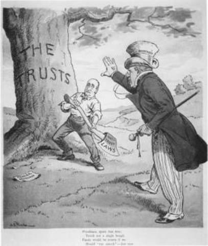 Clayton Anti-trust Act Passed