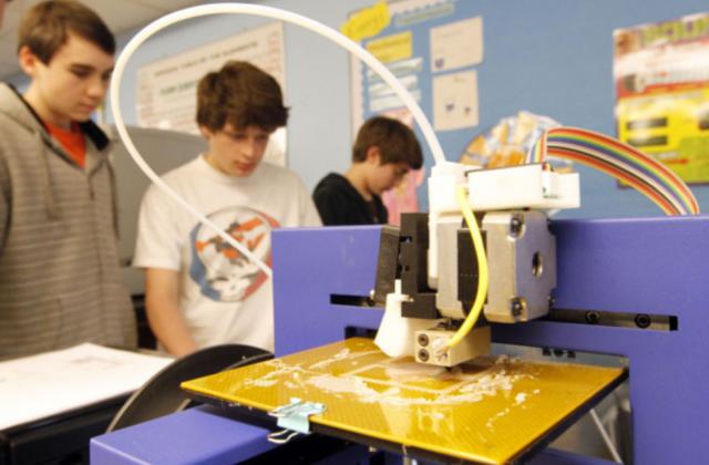 Impressoras 3D na sala de aula