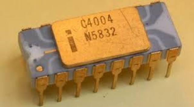 Aparición del microprocesador.