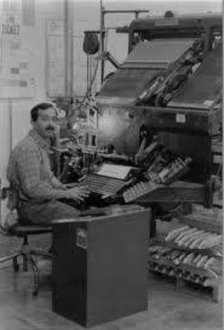 Primera máquina de fotocomposición