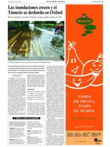 Les innundacións creixen i el Támesis és desborda en Oxforf