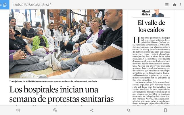 ELS HOSPITALS INICIEN UNA SETMANA DE PROTESTES SANITARIES