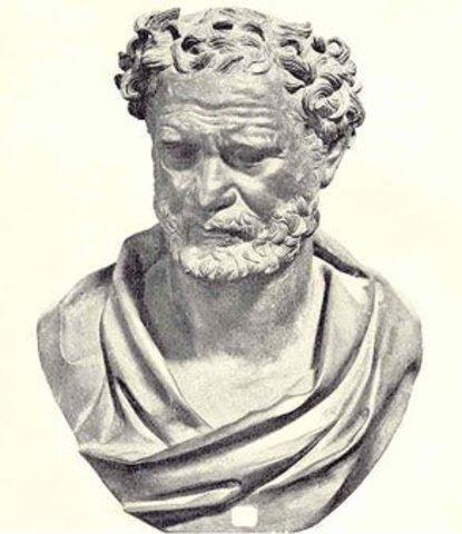 Democritus died