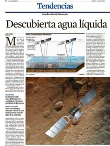 Descoberta aigua liquida a Mart