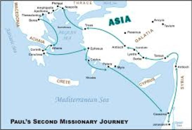 Pauls second missionary journey