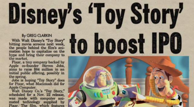 Pixar IPO
