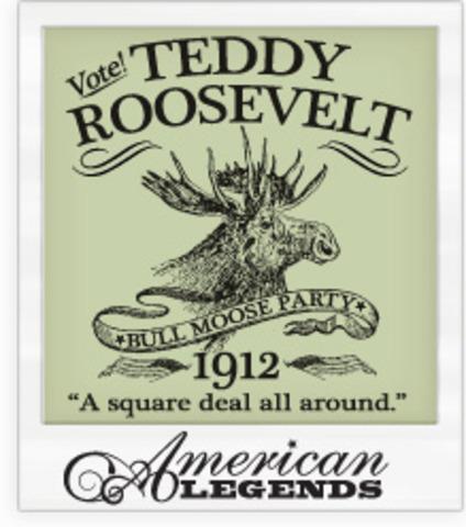 "Teddy Roosevelt Runs on the ""Bull Moose"" Ticket"
