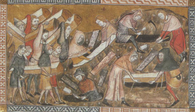 La peste,  pour la première fois en Europe occidentale à Messine