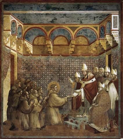 Le pape Innocent III reconnaît l'ordre de François d'Assise