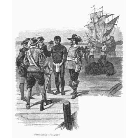 African Slaves Sold in Jamestown