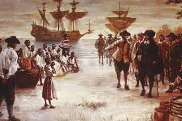 First Africans land in Virginia