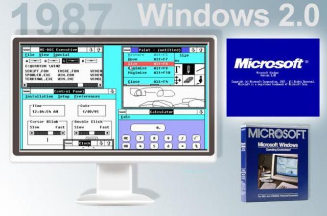 1987  Microsoft Windows 2.0
