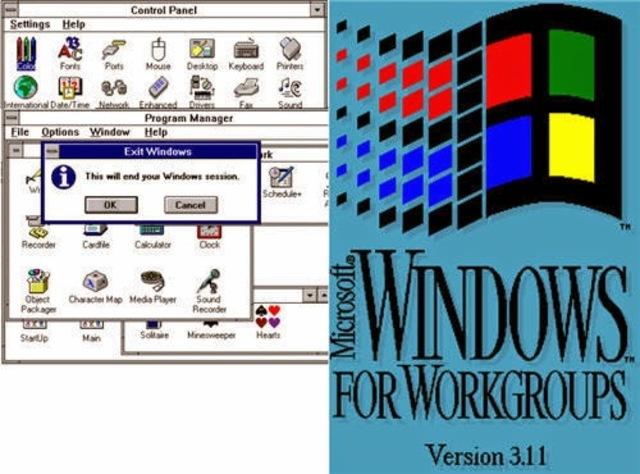 1994 Microsoft Windows para Trabajo en Grupo 3.11