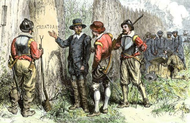 Roanoke Island Colony Fails