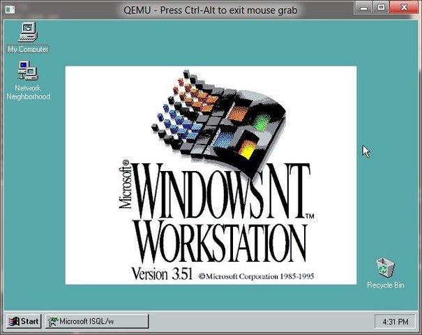 1995 Microsoft Windows NT 3.51
