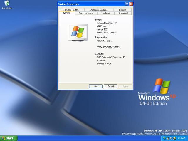 2003 Microsoft Windows XP 64-Bit Edition (versión 2003)