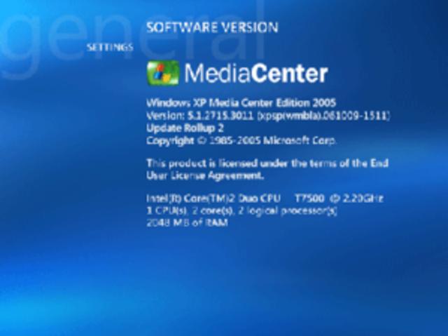 2003 Microsoft Windows XP Media Center Edition 2003