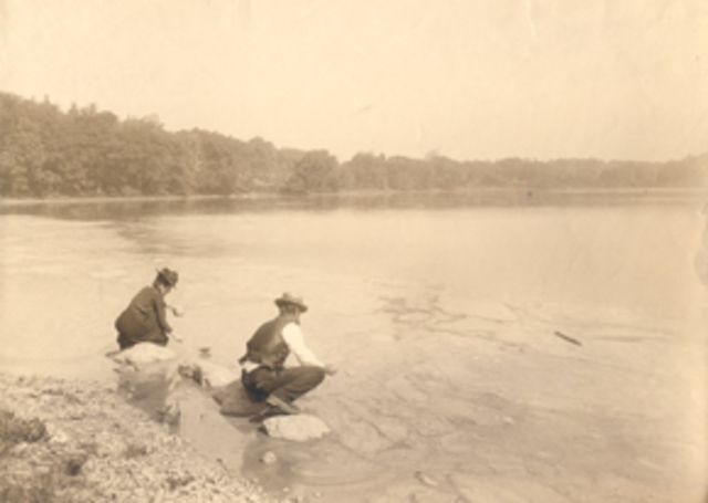 Ellen Richards conducted the Great Sanitary Survey, the groundbreaking study of water pollution in Massachusetts that modernized sewage treatment and developed the first water purity tables and water quality standards.