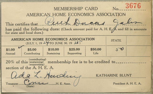 The American Home Economics Association is established. It became the most influential professional society for home economics.