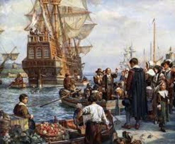 Pilgrims found Plymouth, MA